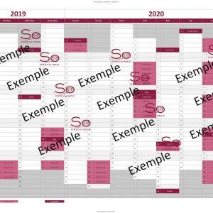 Calendrier Année scolaire 2019-2020 -1P